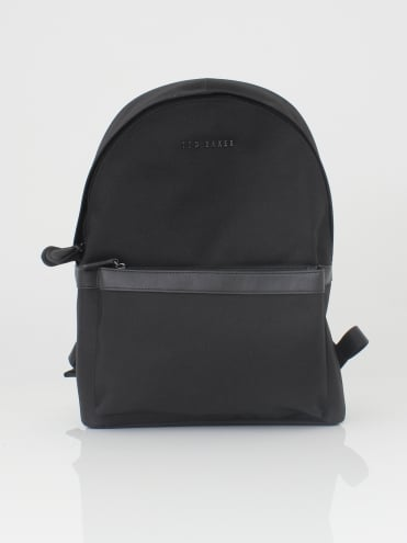 Seata Nylon Backpack - Black