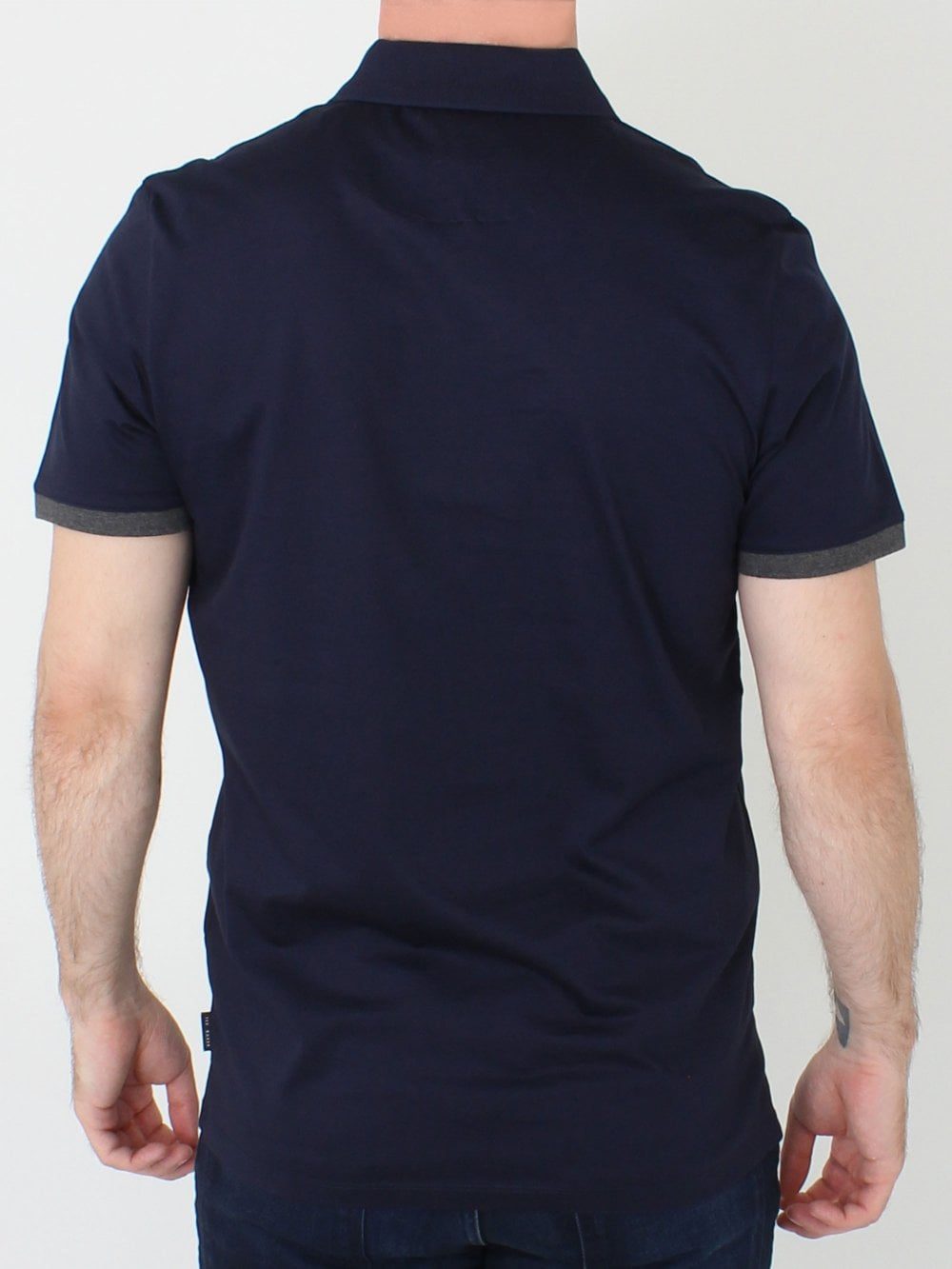 4285d9eb3e470 Ted Baker Snika Zip Detail Pocket Polo in Navy | Northern Threads