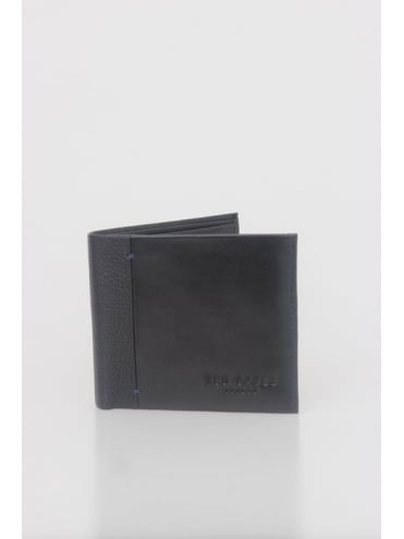 Splitz Contrast Spine Wallet - Black