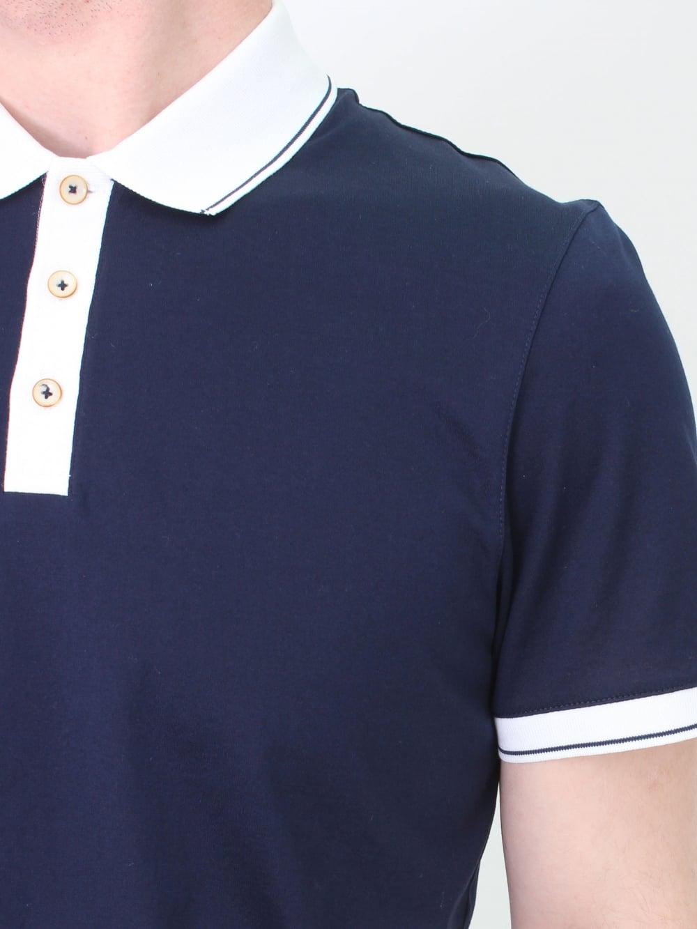 badc5e53de9ff9 Ted Baker Staffy Contrast Collar Polo in Navy