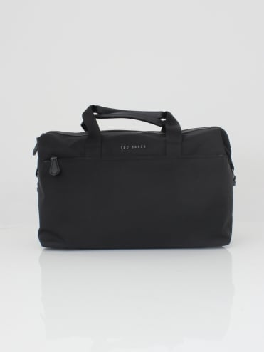 Wood Core Nylon Holdall - Black