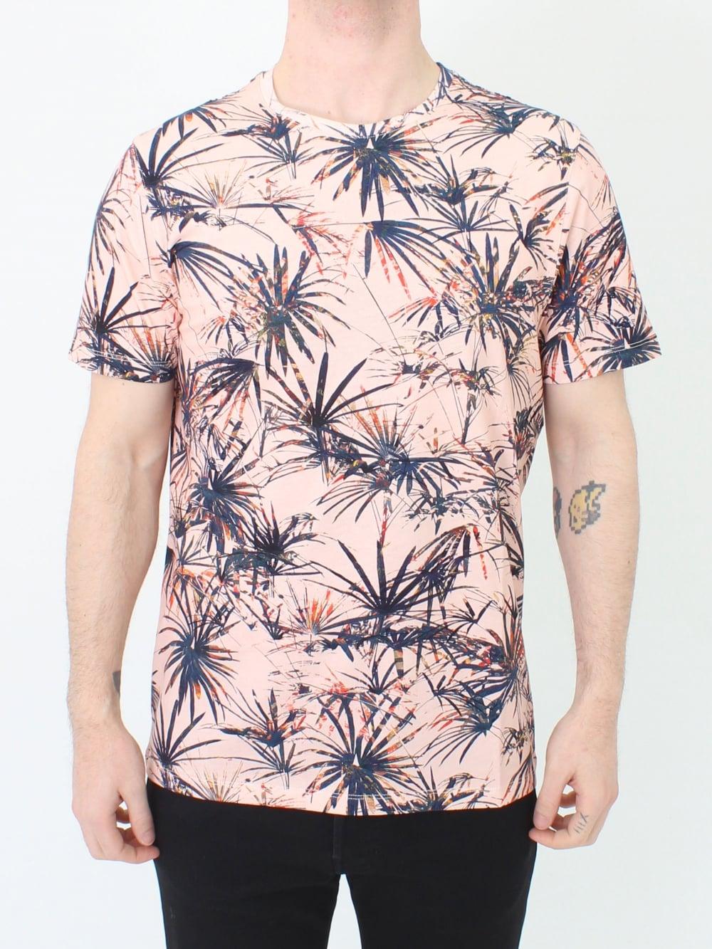 30c5c4a79b83ec Ted Baker Yorkii Tropical Print T.Shirt in Med Orange