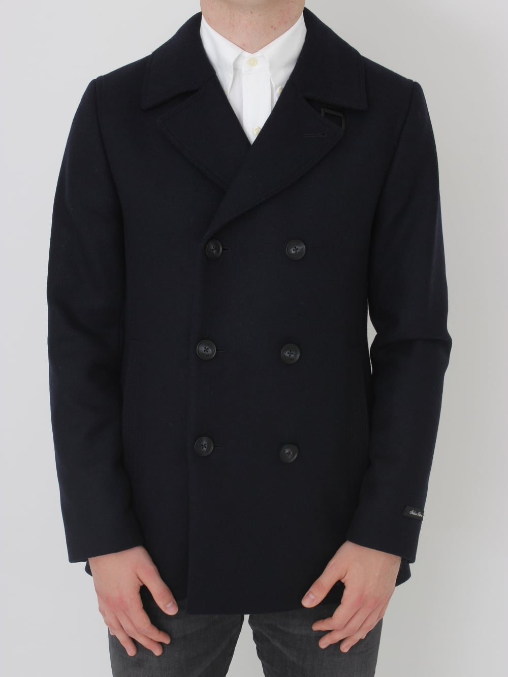 fbbad5c1490f9 Ted Baker Zachary Wool Peacoat in Navy - Northern Threads