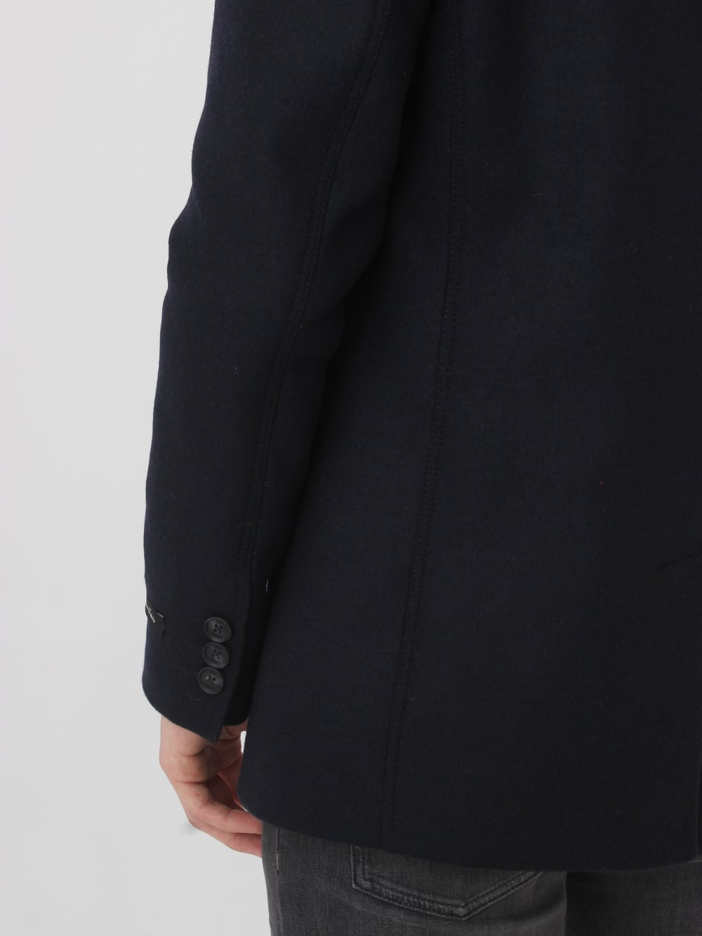 decd205febe0 Ted Baker Zachary Wool Peacoat in Navy - Northern Threads