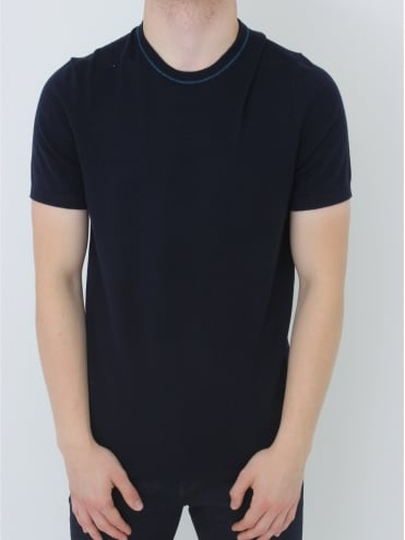 Zico Textured Knitted T.Shirt - Navy