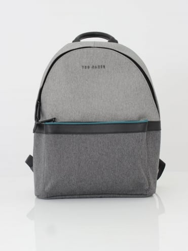 Zirabi Contrast Trim Backpack - Grey
