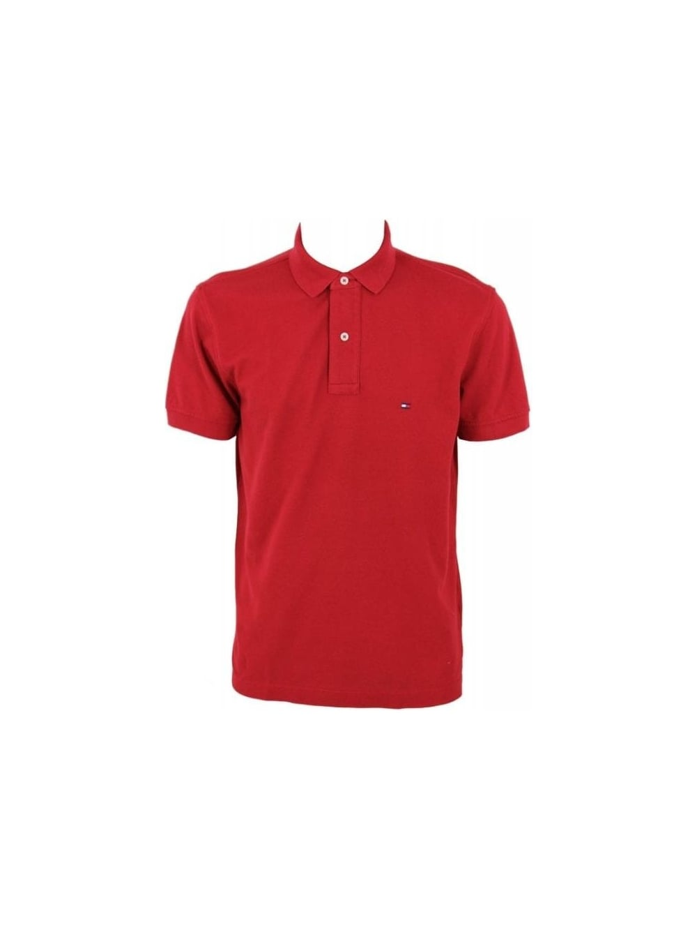 a76806ec Tomm Hilfiger Core Knitted Pique Polo in Summer Red - Northern Threads