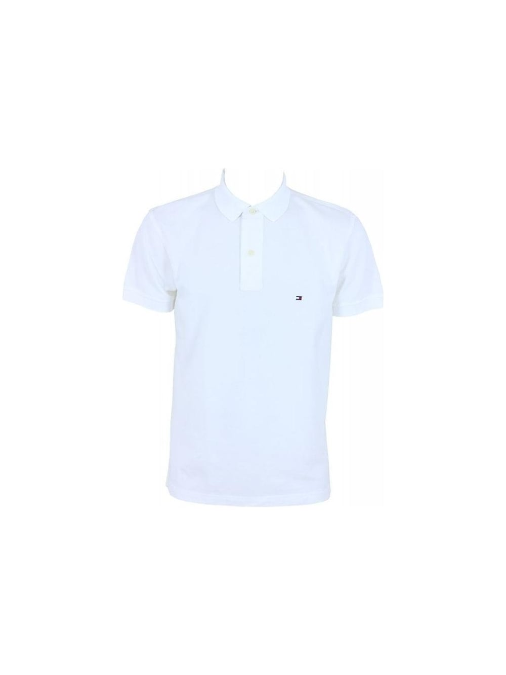 c218898492b Mens Tommy Hilfiger Core Knitted Pique Polo - White