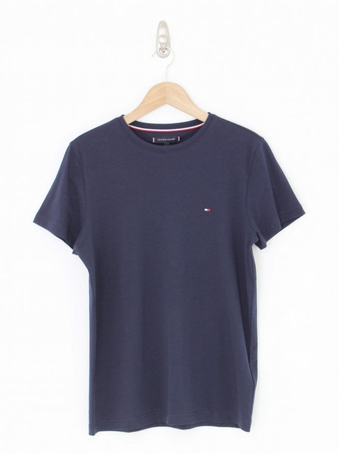 Tommy Hilfiger Stretch Slim Crew Neck T.Shirt - Navy