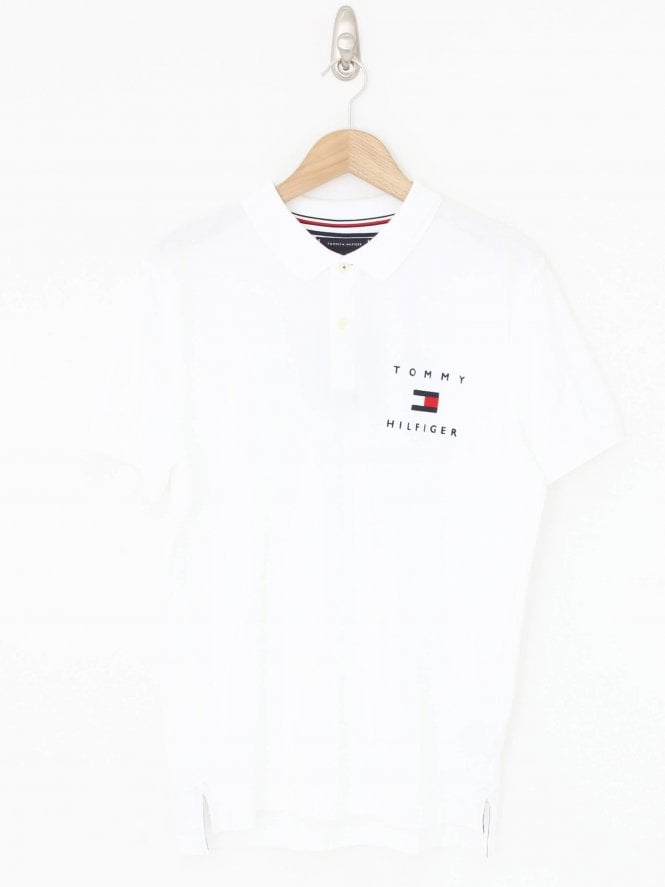 Tommy Hilfiger Tommy Flag Polo - White