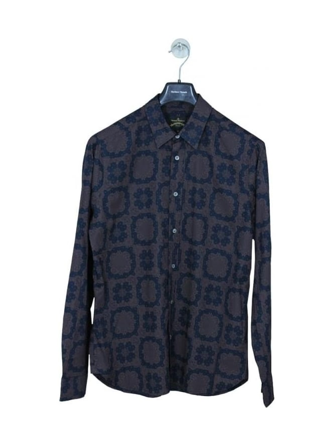 Vivienne Westwood Anglomania Classic Orb Print Shirt - Terracotta
