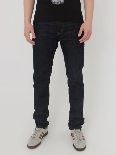 Classic Tapered Logo Jeans - Blue Denim