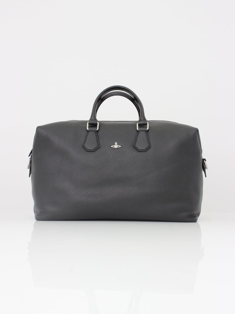 a77d4198cb Vivienne Westwood Milano Weekender Bag in Black - Northern Threads