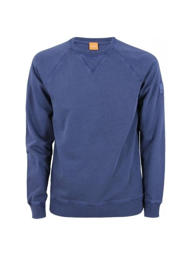 BOSS Orange Wheel Crew Sweat - Dark Blue