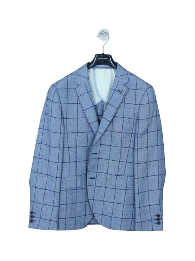 Gibson London Window Pane Check Jacket - Persian Blue